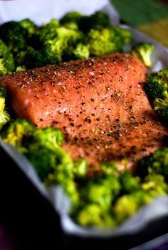 One Pan Roasted Salmon and Broccoli: A Scrumptious One Pan Meal That's Ready in 30 Minutes!