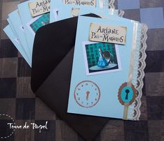 Convite temático para festa da Alice