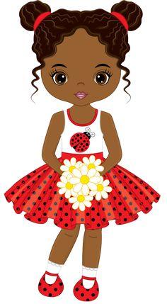 Little african american girl with flowers vector image on VectorStock Black Girl Art, Black Women Art, Art Girl, Little Girl Illustrations, Illustrations And Posters, Cute Baby Girl, Cute Little Girls, Baby Girls, Lol Dolls