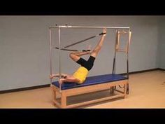 A Pilates Cadillac Leg Springs workout that progresses from the beginning level to the super advanced. Pilates Studio, Pilates Reformer, Pilates Workout, Benefits Of Stretching, Stretching Exercises, Stretches, Pilates Tower, Pilates Machine, Pilates Equipment
