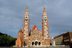 The Votive Church of Szeged. Danube River, Central Europe, Hungary, Budapest, Croatia, Big Ben, The Good Place, Country, Architecture