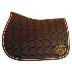 Butet embroidered saddle pad in brown with saffron logo. Jumping Saddle, Saddle Pads, Brown, Classic, Horse, Accessories, Fashion, Velvet, Derby