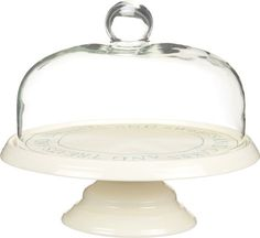 Kitchen Craft Classic Collection Ceramic Round Cake Stand with Glass Dome, 29 cm by KitchenCraft Kitchenaid, Cake Stand With Cover, Wedding Cake Stands, Wedding Cakes, Great British Bake Off, Elegant Kitchens, New Cake, Drink Dispenser, Classic Collection