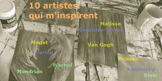 10 artistes qui m'inspirent #matisse #picasso #kandinsky etc http://www.pigmentropie.fr/2016/07/10-artistes-inspiration/