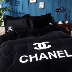 Fancy Bedroom, Room Ideas Bedroom, Bedroom Themes, Bedroom Sets, Bedding Sets, Bedroom Decor, Bedding Decor, Comforter, Chanel Bedding