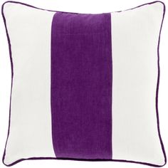 Broad Stripe Pillow, Violet