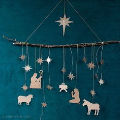 Papercut Nativity Scene Wall Hanging - Lia Griffith Papercut Nativity Scene Wall Hanging - Lia Griffith A modern take on a Christmas classic—this papercut nativity scene wall hanging is easy to make and a beautiful addition to your holiday décor. Christmas Nativity Scene, Nativity Crafts, Christmas Ornaments, Nativity Scenes, Felt Ornaments, Outdoor Nativity Scene, Nativity Ornaments, Nativity Scene Pictures, Christmas Bells