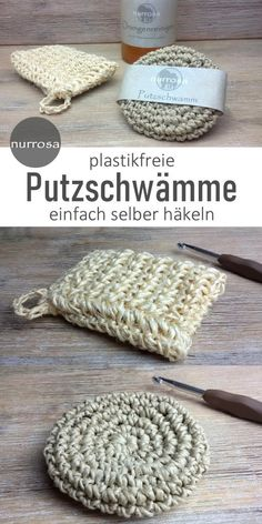 Putzschwamm häkeln / selber machen Crochet cleaning sponge / do it yourself After I now make my cleaner for the kitchen itself (just make orange cleaner itself), I would also like to buy sponges no more … Crochet Diy, Crochet Home, Crochet Kitchen, Vintage Crochet, Orange Cleaner, Rooms Ideas, Knitting Patterns, Crochet Symbols, Magic Circle Crochet