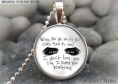Genuine Sterling Silver Musician Gerard Way My Chemical Romance Band Lyrics
