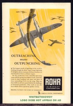 1943 P-47 Thunderbolts Blast 'Em Vintage Style WW2 Army Air Corps Poster 24x36