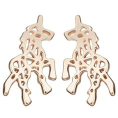 These unicorn earrings are studs with a cut out design. The unicorn earrings on this Pinterest board are available in gold (or silver) color metal. Unicorn Shops earrings are part of one of the largest selections of jewelry with unicorn designs. Not only does our website have a large variety of unicorn earring jewelry, it has a huge selection of products. Unicorn Shops is the best place where to find and buy earring jewelry as well as other unicorn stuff.