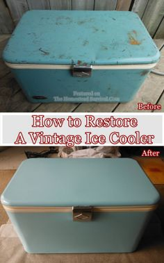 The Homestead Survival | How to Restore A Vintage Ice Cooler | http://thehomesteadsurvival.com