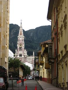 Bogota, Colombia - this is where our sponsored child lives. We want to visit her and her family one day - soon! Ecuador, Travel Around The World, Around The Worlds, Cathedral Church, Wide World, World Cities, City Streets, South America, Street View