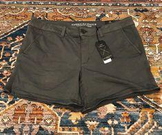 c452c3cc935 American Eagle Shorts Womens 16 Super Stretch Midi Low Rise Grey Plus Size  New #fashion