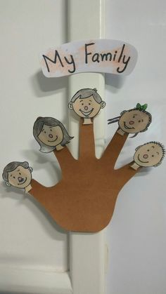 my family finger puppets
