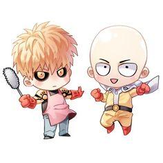 One Punch Man – Genos und Saitama - altmea One Punch Man Manga, One Punch Man 3, Saitama One Punch Man, Anime One, Anime Chibi, Manga Anime, Kawaii Anime, Kalender Design, Chibi Characters