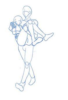 Anime Pose Reference Blog: 04/04/10 Sorry this reminds me of akane and kougami