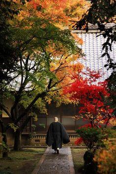 A monk at Heirin-ji temple, Saitama, Japan