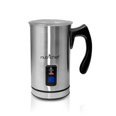 COSTWAY Milk Frother, Electric Automatic Stainless Steel,Non-Stick Interior, Milk Steamer Foamer for Coffee, Latte, Cappuccino with Handheld (Stainless-Update) Electronic Pressure Cooker, Latte Macchiato, Steel House, Heating Element, Latte Art, Convenience Food, Kettle, Hot Chocolate, Stainless Steel