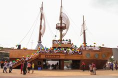 Sail the boat and dine at the Arrmada Restaurant at Adlabs Imagica