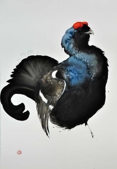 Black Grouse - Karl Martens - watercolor