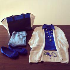 Hoy me levanté con ganas de un look azul... ¿Qué os parece la elección? #ideassoneventos #imagenpersonal #imagen #looks #moda #ropa #fashion #outfit #fashionblogger #azul #blue #outfitofday