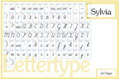 Lettertype sylvia - juf Inger