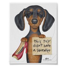 Squeakers (Dachshund) Poster from Zazzle.com