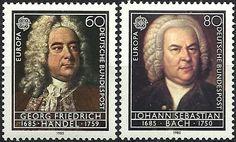 Buy Duitsland / Germany 1985 - COMPOSERS - Bach & Handel set (2) Compl. MNH - Postfris - Posvars - Musicfor R32.00