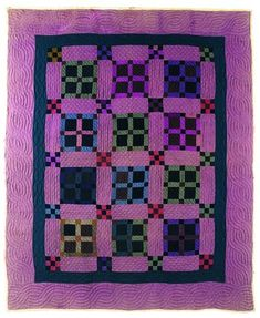 New Nine Patch et quatre Patch Quilt, environ  1910