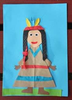 Native american crafts for kids Thanksgiving Crafts For Toddlers, Thanksgiving Crafts For Kids, Pilgrims And Indians, November Crafts, Native American Crafts, Indian Crafts, Felt Baby, Classroom Crafts, Le Far West