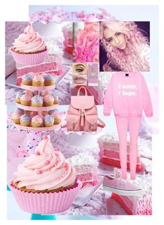 """""""pink"""" by oliviajoe ❤ liked on Polyvore"""