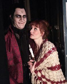 Joskus kyllä ihmetyttää mikä siinä Krolockissa niin viehättää... @jonassaari @annavictoriaerik #vampyyrientanssi #hktfi #helsinginkaupunginteatteri