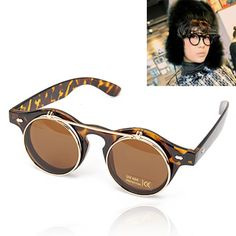 Vellum Tan Big Frame Simple Design Resin Sunglasses http://earrings.asumall.com/