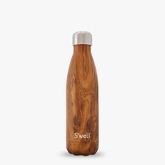 S'well water container from our wood collection made of BPA and toxic free stainless steel can become a personalized water bottle with your company's logo design on it or with our chalk ink pen