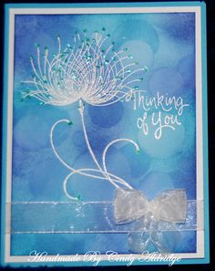 Background Taught to me By Vickie Brierworth Ink Pads And Circle Stencils used for Background Stickles Used