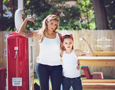 Vintage inspired Retro Pinup Shoot Mother Daughter Rockabilly