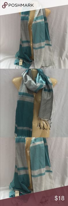"""NEW Coldwater Creek Teal & Gray Scarf NWT Beautiful Teal and Gray Lightweight Scarf From Coldwater Creek, New with Tags! Measures 30""""x72""""  Be sure to check out my closet for other great items and Save on a Bundle!! 🛍💖 Coldwater Creek Accessories Scarves & Wraps"""