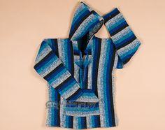 Soft Woven Baja Shirt Hoodie -Blue XL (b24)