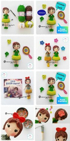 In this article amigurumi doll free crochet patterns and amigurumi knitting toy images are waiting for you. Everything you're looking for in Amigurumi. Amigurumi Toys, Crochet Patterns Amigurumi, Crochet Dolls, Pattern Pictures, Baby Toys, Free Crochet, Free Pattern, Sewing Projects, Knitting