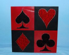 Poker Symbols Picture String Art  (Wall-Hanging)