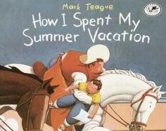 The summer vacation that the boy tells about is make believe. When students write about their summer, no one is left out. They can either tell what they really did or make up a vacation!
