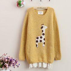 Cute Giraffe Sweater - Fallfor.com