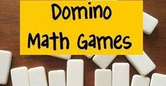 Trendy Domino Math Games First Grade Multiplication Kindergarten Math Games, Math Classroom, Fun Math, Fun Games For Kids, Craft Activities For Kids, Math Activities, Therapy Activities, Addition Games, Addition Strategies