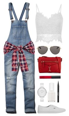 Boyfriend Overalls by thestylelookout on Polyvore featuring polyvore, fashion, style, Abercrombie & Fitch, Vans, ALDO, Skagen, The Row, NARS Cosmetics, Stila and Essie