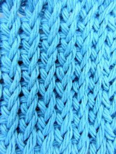 CrochetKim Video: Tunisian Twisted Knit Stitch