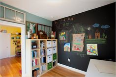 Magnetic Paint & Chalkboard Paint... perfect for a kid's play room or office wall.