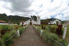 Main entrance on a beautiful day in Orosi Church