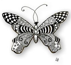 #zentangle butterfly visit me at My Personal blog: http://stampingwithbibiana.blogspot.com/