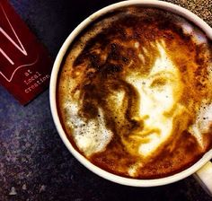 One of Gemma's friend posted this. Sherlock coffee.
